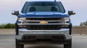 Blue 2019 Chevy Silverado from front