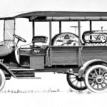 A black and white sketch shows a 1918 Model T truck with instruments in the bed.